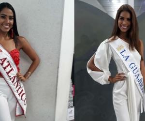 Linda Gómez, candidata de Atlántico y Katty Palomino, representante de La Guajira.