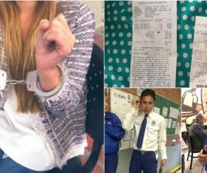 Estas fueron las fotos publicadas por la joven afectada