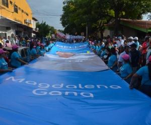 En el Paque El Cundí se llevó a cabo la concentración del movimiento 'Magdalena Gana'.