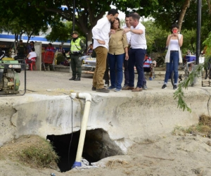 La laguna fue eliminada por operarios de Essmar.