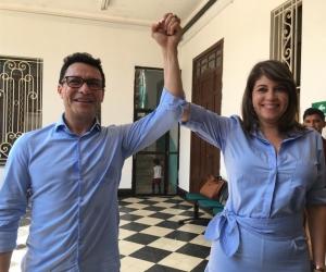 Carlos Caicedo y Virna Johnson, candidatos de Fuerza Ciudadana.