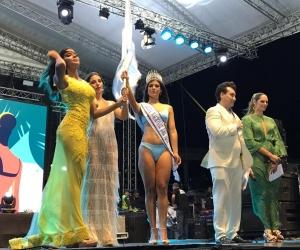 Momento en que Daniela Gutiérrez fue coronada como la nueva soberana del Mar.