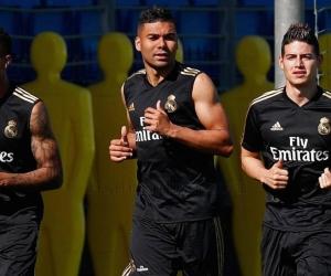 James Rodríguez volvió a entrenamientos con el Real Madrid.