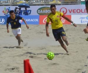 Rafael Pulido fue parte de la Selección Colombia de Fútbol Playa que logró la medalla de bronce en los IV Juegos Suramericanos de Playa.