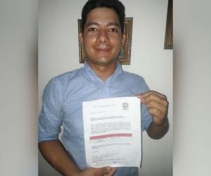 Ronald Andrés Patino Fontalvo aspira a la Alcaldía de Fundación.
