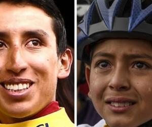 Egan Bernal y Julián Torres.