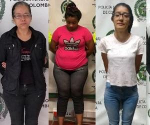 Las mujeres fueron capturadas en distintas ciudades del país.