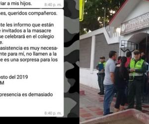 La Policía permanece en la Institución Educativa Betania Norte.