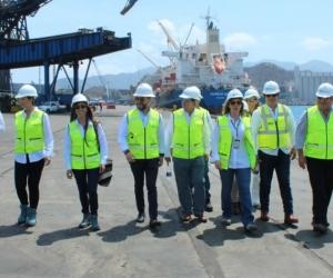 Visita del presidente de la Agencia Nacional de Hidrocarburos (ANH), Luis Miguel Morelli, quien acompañado de su comitiva conoció la logística, los servicios e infraestructura de la terminal marítima.