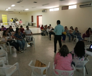 Las capacitaciones estuvieron a cargo de los referentes de cada una de las áreas de la Secretaría Seccional del Salud.