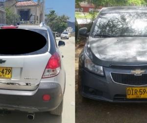 Vehículos recuperados en Santa Marta.