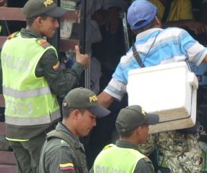 20 venezolanos fueron trasladados al Centro de Traslado por Protección Distrital.