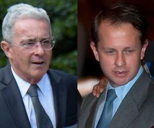 Expresidente Álvaro Uribe y Andrés Felipe Arias
