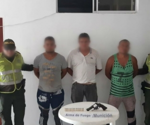 Hombres capturados en Zona Bananera.