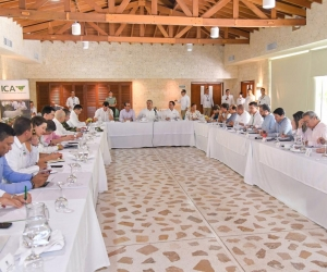 El presidente Iván Duque se reunión con representantes del gremio bananero.