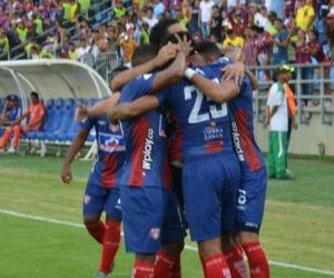 Unión Magdalena celebró su triunfo ante el Millonarios.