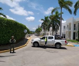 Operativo de allanamiento en la vivienda de Elkin López, alias 'La Silla'