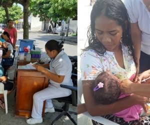 Jornada de vacunación distrital.