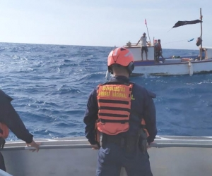 Rescate de pescadores en Mayapo.