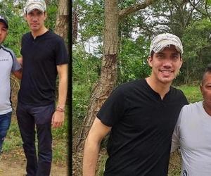Esta son las fotos que tiene a Juan Guaidó en el ojo del huracán: con dos presuntos miembros de Los Rastrojos.