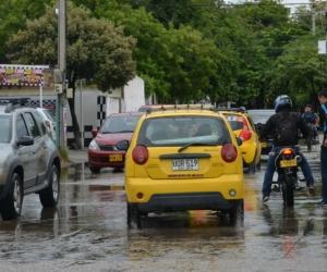 Lluvias de este jueves en Santa Marta.