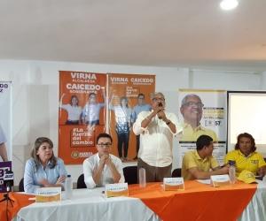 Candidatos de la Coordinadora Departamental del Polo Democratico le dieron su respaldo a Carlos Caicedo.