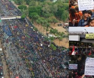Protestas en Indonesia.