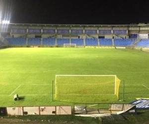 Estadio Sierra Nevada luego de los trabajos a raíz del aguacero del domingo.