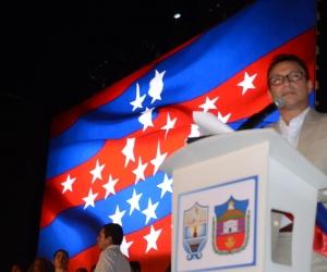 Carlos Caicedo durante su acto de posesión.