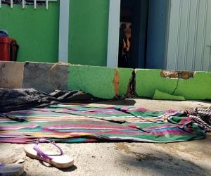 El desplome de dos columnas le causó la muerte a dos niñas, de 5 y 8 años.
