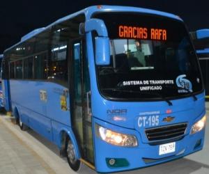 Buses en la Terminal de Transferencia de Gaira.