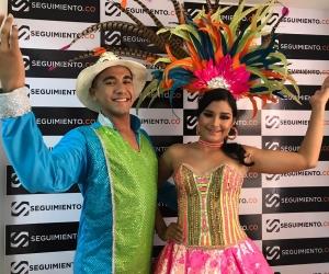 Los Reyes del Carnaval visitaron las instalaciones de Seguimiento.co