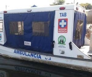 Ambulancia que donó la Gobernación del Magdalena y que, al parecer, no ha sido puesta en funcionamiento.