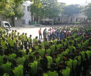 Los uniformados prestarán seguridad durante las fiestas.