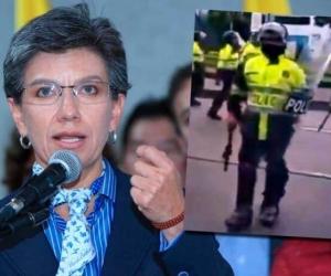 Claudia López y la Policía