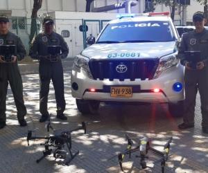 Drones que llegaron a Santa Marta a apoyar el trabajo de la Metropolitana.