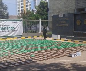 En el puerto marítimo de Cartagena la Policía Antinarcóticos logró la incautación de 798 kilos de clorhidrato de cocaína.