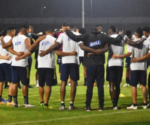 Selección Colombia en entrenamiento.