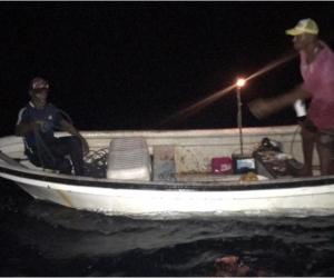 La embarcación fue remolcada y las personas rescatadas transportadas hasta puerto seguro en el muelle de la Estación de Guardacostas de Providencia.