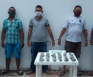 Presuntos integrantes del grupo delincuencial 'Las Brisas'.