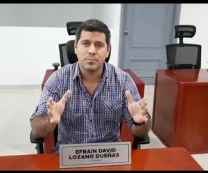 Efraín Lozano, concejal de Santa Marta.