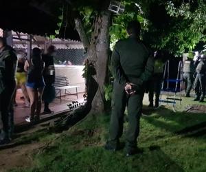 Operativos de la Policía en Santa Marta.
