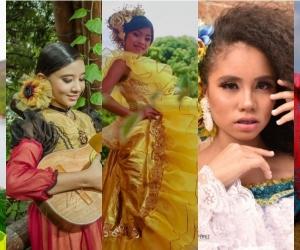 Candidatas al Reinado Infantil del Folclor Colombiano.