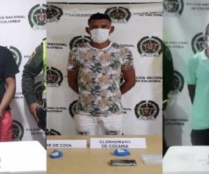 Los tres capturados quedaron a orden de la Fiscalía por el delito de tráfico, fabricación o porte de estupefacientes.