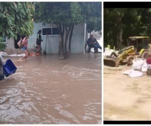 Impresiones de la inundación que deja el desbordamiento del río Fundación.