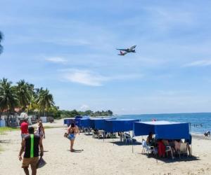 Playas de Santa Marta durante el puente festivo.