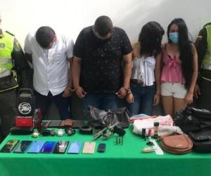 Los cuatro capturados en la URI de la Fiscalía.