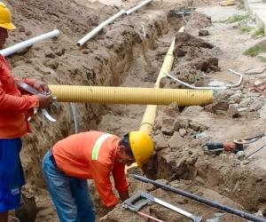 La intervención abarcó la instalación de la red de acueducto y alcantarillado y la extensión de 168 metros de 8 pulgadas en tubería novafort.