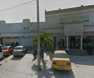 Clínica San Ignacio, a donde fueron llevados los dos jóvenes heridos.