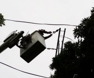 El servicio de energía será interrumpido desde las 8:30 de la mañana.